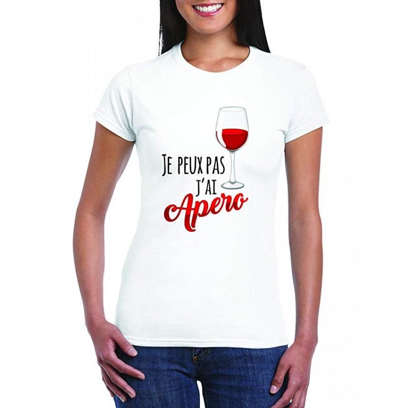 T-Shirt Je peux pas j'ai apéro Femme