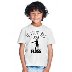 T-shirt Je peux pas j'ai Floss dance - Cadeau enfant fille et garçon musique