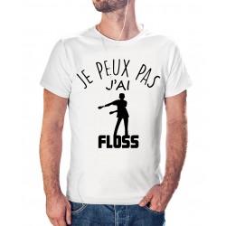 T-shirt j'peux pas j'ai floss dance - cadeau homme danse