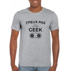 T-Shirt Je peux pas Je suis en Mode Geek Contrôleur de Jeu Vidéo Humour