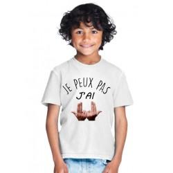 T-shirt Je peux pas j'ai Jul - Cadeau enfant fille et garçon musique