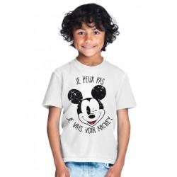 T-shirt Je peux pas je vais voir mickey - Cadeau enfant fille et garçon