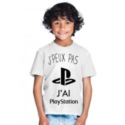 T-shirt Je peux pas j'ai playstation - Cadeau enfant fille et garçon