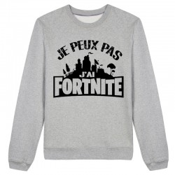 Sweat J'peux pas j'peux pas j'ai fortnite - Pull