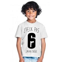 T-shirt Je peux pas j'ai rainbow six siege - Cadeau enfant fille et garçon