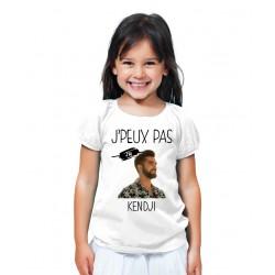 T-shirt Je peux pas j'ai Kendji Girac - Cadeau enfant fille et garçon