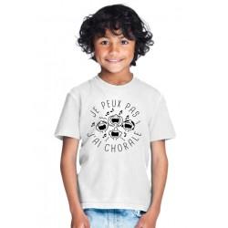 T-shirt Je peux pas j'ai chorale - Cadeau enfant fille et garçon