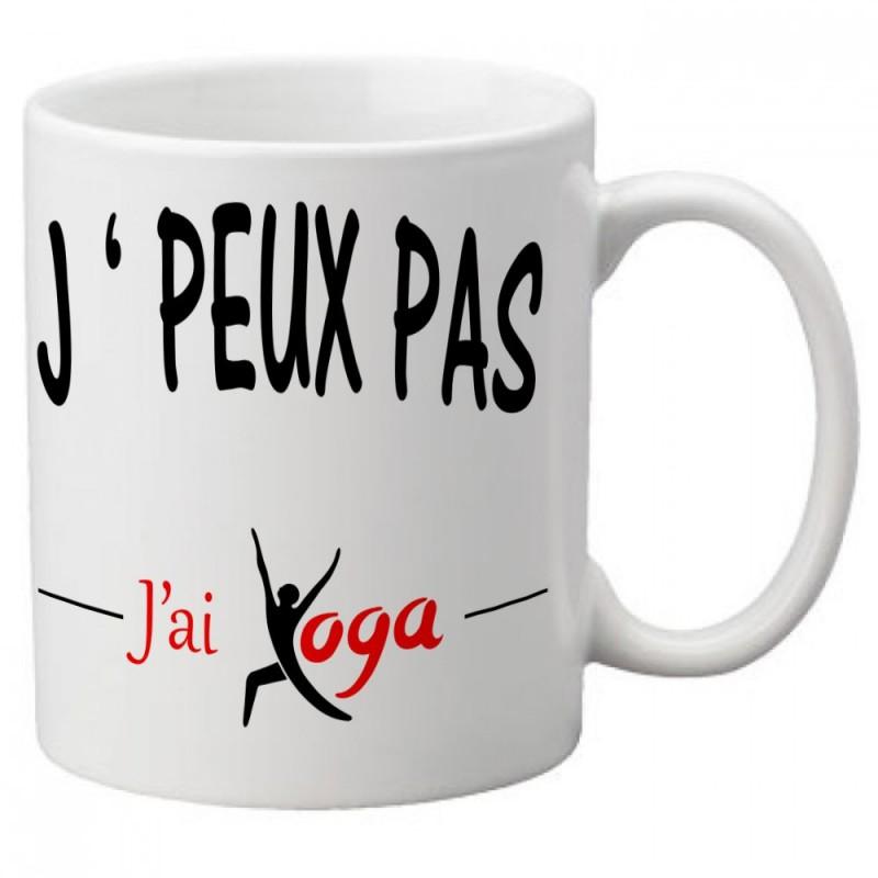 Mug j'peux pas j'ai Yoga - Tasse
