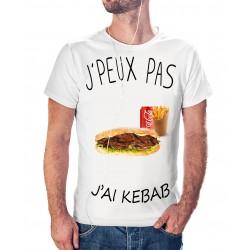T-shirt j'peux pas j'ai pas j'ai Kebab - cadeau homme viande