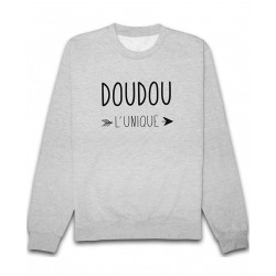 Sweat Doudou l'unique Gris