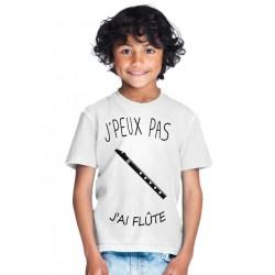 T-shirt Je peux pas j'ai flûte - Cadeau enfant fille et garçon