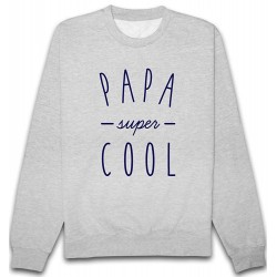 Sweat Papa Super Cool Gris