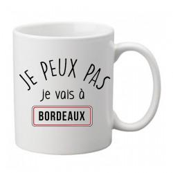 Mug  j'peux pas je vais à Bordeaux- Tasse