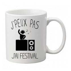 Mug j'peux pas j'ai festival  - Tasse