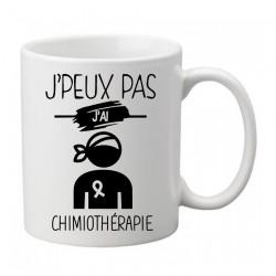 Mug j'peux pas j'ai chimiothérapie   - Tasse