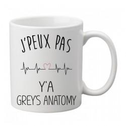 Mug j'peux pas y'a Grey's Anatomy   - Tasse