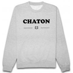 Sweat Chaton Gris