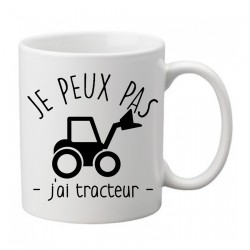 Mug j'peux pas j'ai tracteur   - Tasse
