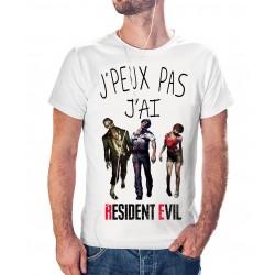 T-shirt j'peux pas j'ai pas j'ai Resident Evil - cadeau homme Horror zombie