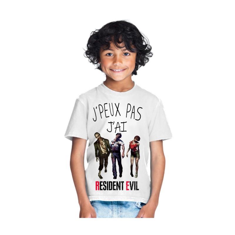 T-shirt Je peux pas j'ai Resident Evil - Cadeau enfant fille et garçon