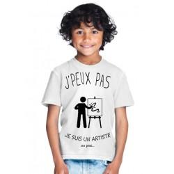 T-shirt Je peux pas je suis un artiste - Cadeau enfant fille et garçon