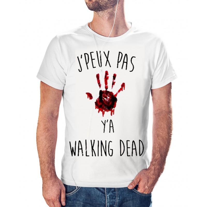 T-shirt j'peux pas y'a the walking dead - cadeau homme