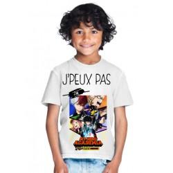 T-shirt Je peux pas j'ai my hero acadomia - Cadeau enfant fille et garçon