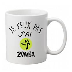 Mug j'peux pas j'ai Zumba   - Tasse
