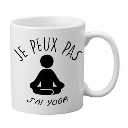 Mug j'peux j'peux pas j'ai yoga relax  - Tasse