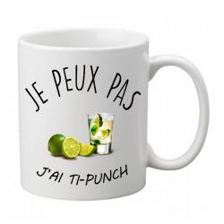 Mug j'peux pas j'ai ti punch- Tasse