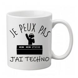 Mug j'peux pas j'ai Techno- Tasse