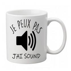 Mug j'peux pas j'ai Sound- Tasse