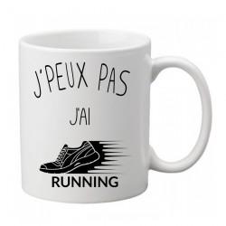Mug j'peux pas j'ai running - Tasse