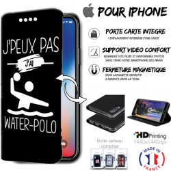 Housse portefeuille j'peux pas j'ai water-polo iPhone - étui Apple
