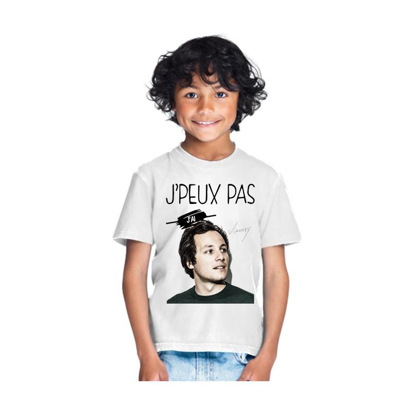 T-shirt Je peux pas j'ai Vianney - Cadeau enfant fille et garçon