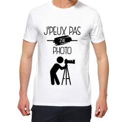 T-Shirt Je peux pas J'ai Photo - Cadeau homme photographe