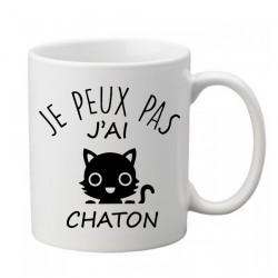 Mug  Je peux pas j'ai chaton - Tasse