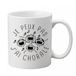 Mug j'peux pas j'ai pas j'ai chorale - Tasse