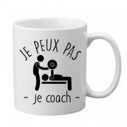 Mug j'peux pas je coach - Tasse