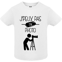T-shirt Je peux pas j'ai Photo - Cadeau TeeShirt enfant photographe