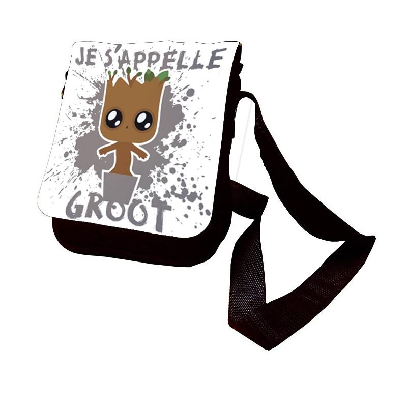 Sac Je s'appelle Groot en bandouilière