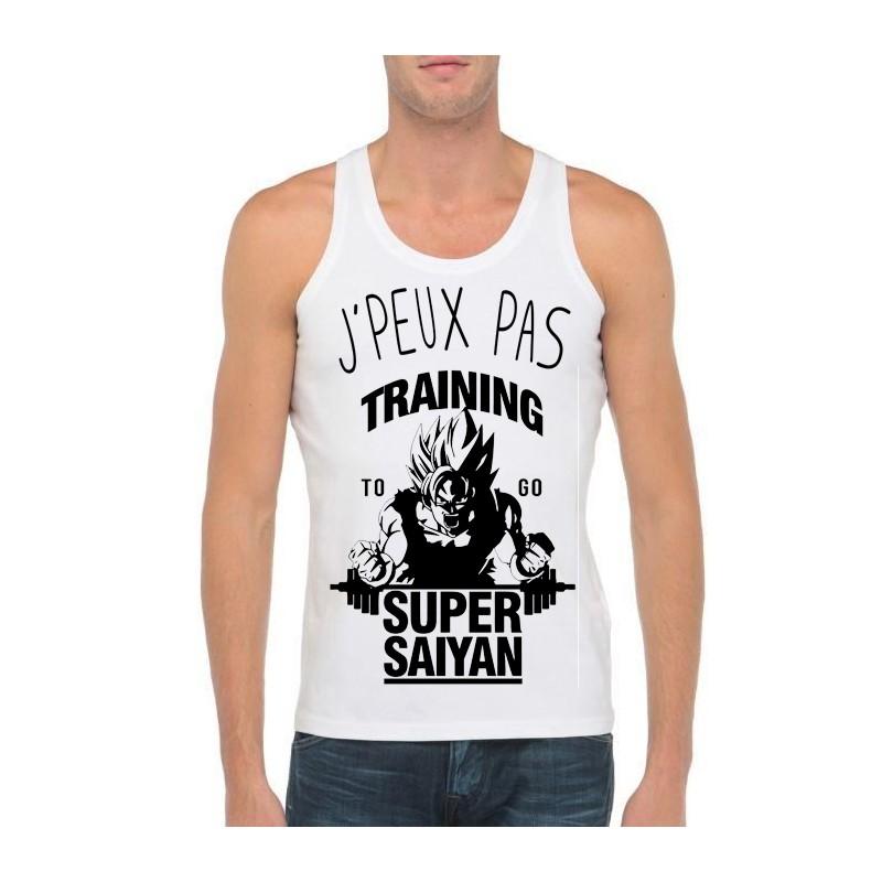 Débardeur je peux pas j'ai training to be super saiyan - Homme