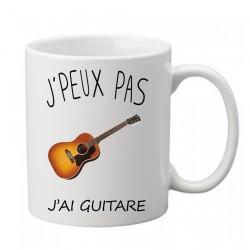 Mug j'peux pas j'ai guitare - Tasse