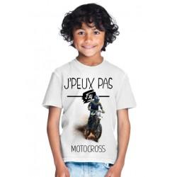T-shirt Je peux pas j'ai MotoCross - Cadeau enfant fille et garçon