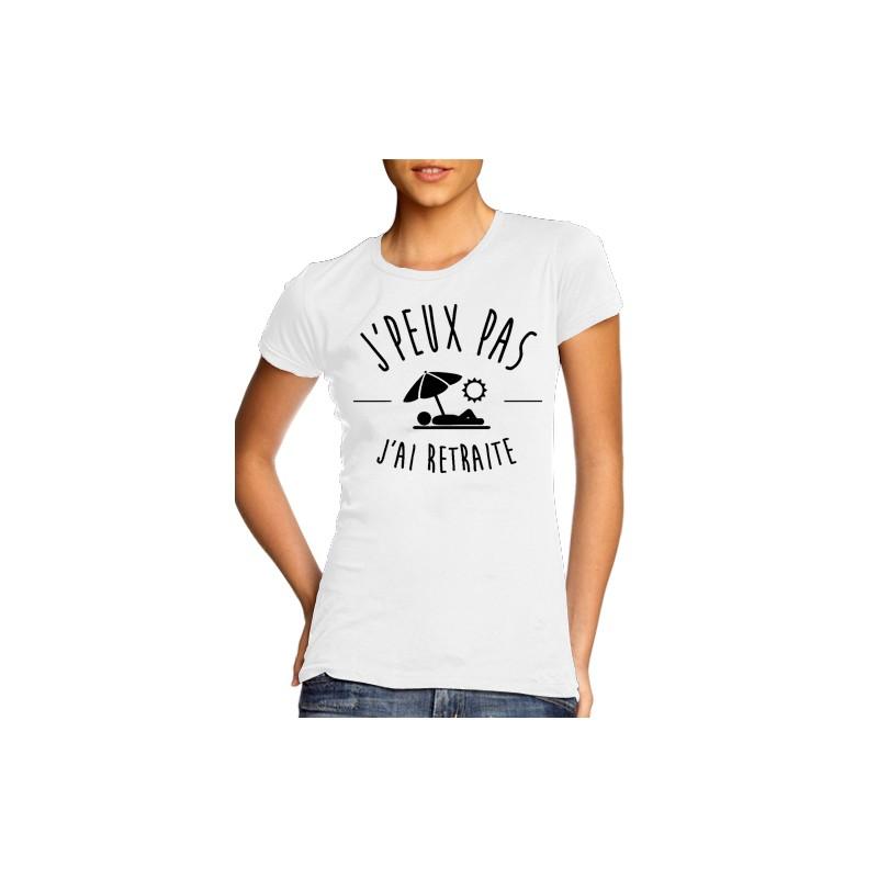 T-Shirt j'peux pas j'ai moisson - Femme retraitée
