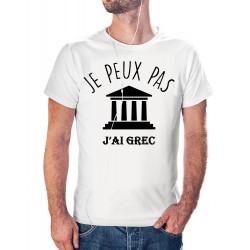 T-shirt j'peux pas J'ai grec - cadeau homme