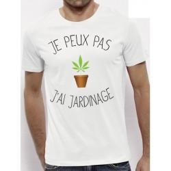 t-shirt j'peux pas j'ai jardinage - cadeau homme
