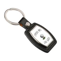 Porte clés Je peux pas j'ai golf
