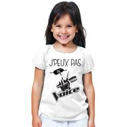 T-shirt Je peux pas j'ai the voice - Cadeau enfant fille et garçon
