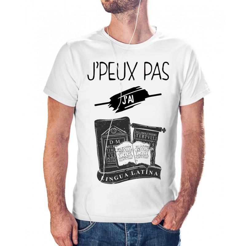 t-shirt je peux pas j'ai latin - cadeau homme